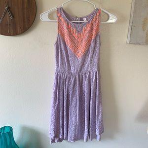 Xhilaration Purple and Orange Dress